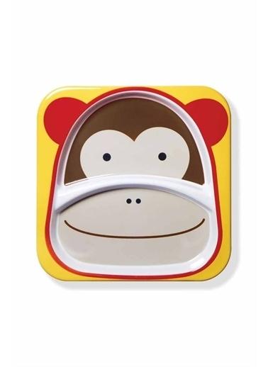 Skip Hop Skip Hop 2 Bölmeli Maymun Desenli Renkli Çocuk k Pembe